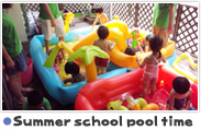 Summer school pool time